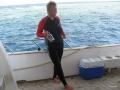 Babsy an Board- Ausfahrt mit dem Tauchboot