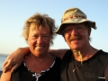 Babsy und Ingo am Lahamistrand
