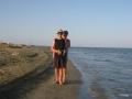Babsy und Taxingo am Strand