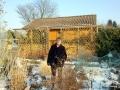 Schnee im Kleingarten