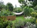 Hochbeet und Hängematte-Garten Juli 2004