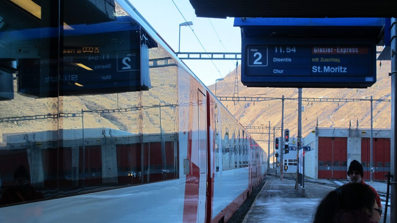 Glacier Express in Andermatt