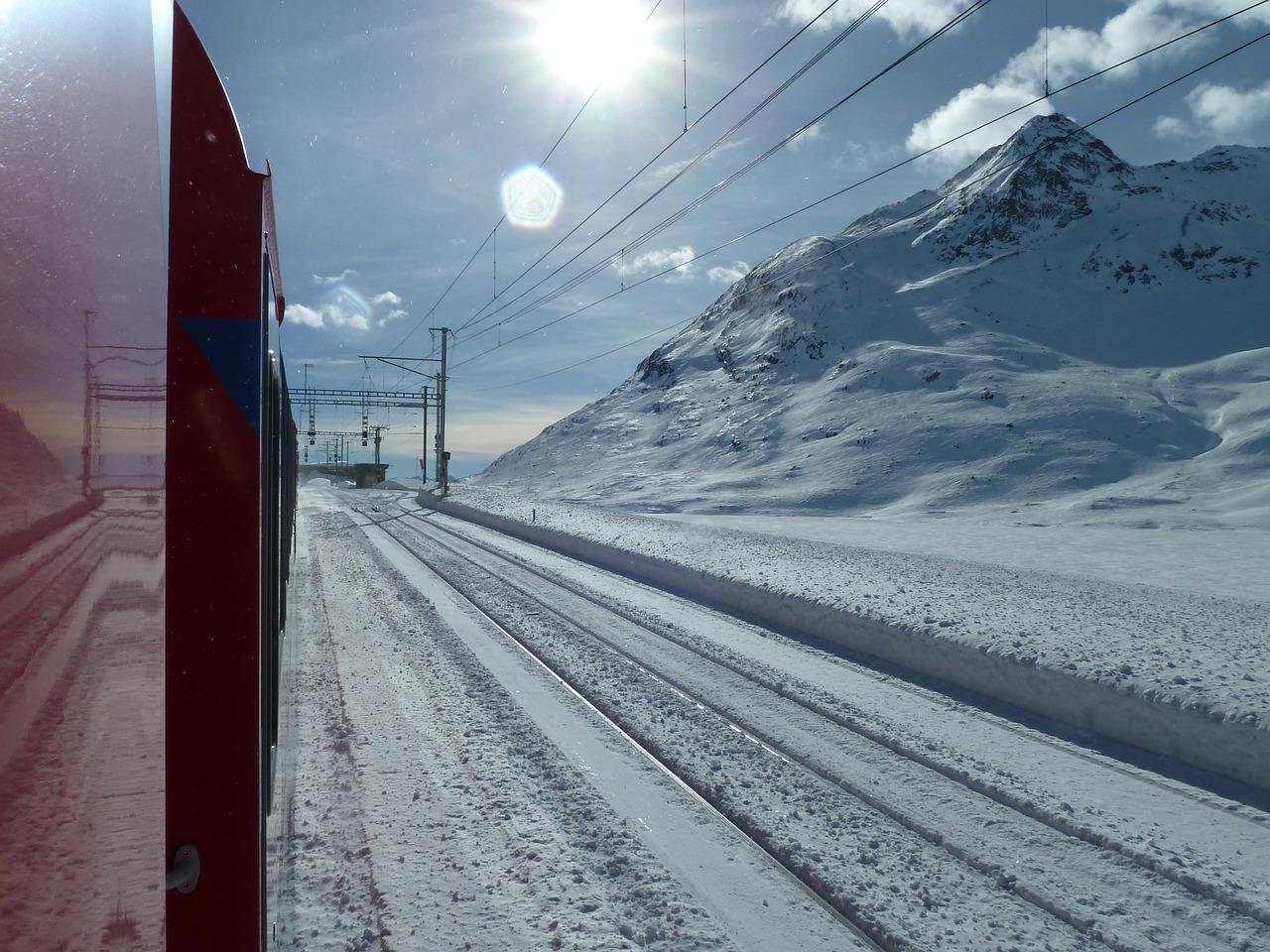 Traumhafte Schneelandschaften auf der Fahrt mit dem Glacier Express