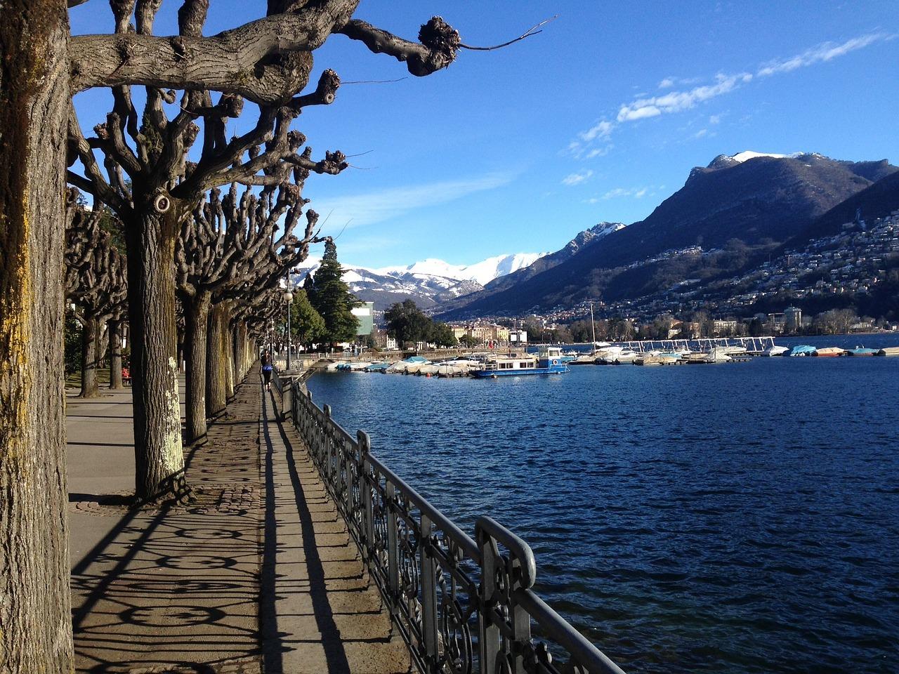 Lugano - Promenade am See