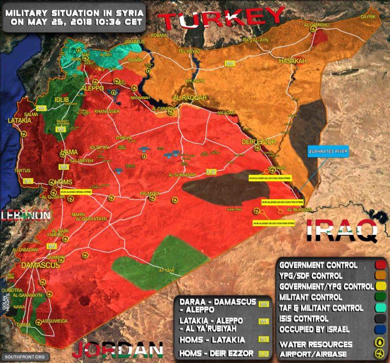 Militärische Lage in Syrien am 25.5.2018